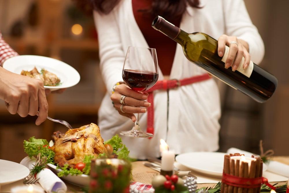 Julefrokost mad og vin